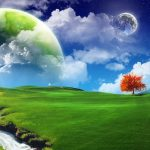 Creative green design wallpaper