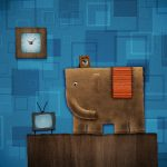 Handmade work elephant creative desktop wallpaper