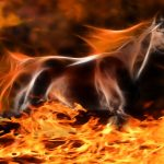 Year of the Horse Creative Design Flame Horse HD Wallpaper
