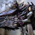 Girl with a dragon wallpaper