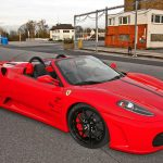 Red convertible Ferrari widescreen car wallpaper