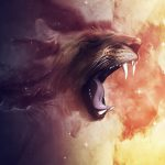 Creative fierce lion wallpaper