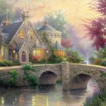 Thomas painting small river water home landscape desktop wallpaper