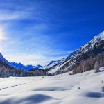 nature mountains winter trees snow wallpaper