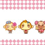 Cute leisure monkey family desktop wallpaper