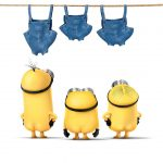 2015 latest movie, mean me, little yellow guy, bare ass, sling, clothes, little yellow guy wallpaper