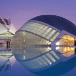 Spain, valencia, planetarium, city architecture landscape wallpaper