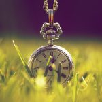 Pocket watch in the grass desktop background
