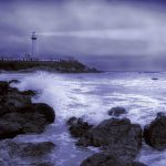Stormy Weather, Pigeon Point Light Station, California wallpaper