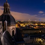 Paris night, city architecture landscape wallpaper