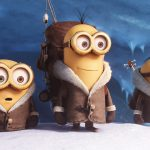 Despicable me, little yellow man, snow, travel bag, clothes, luggage, cute little yellow guy wallpaper