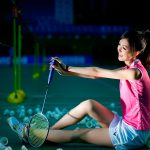 Badminton and chinese girl hd wallpaper