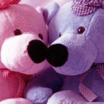 Cute couple teddy bear desktop wallpaper