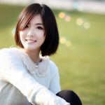 Smiling pure short hair beautiful wallpaper
