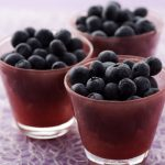 Cup of blueberries wallpaper