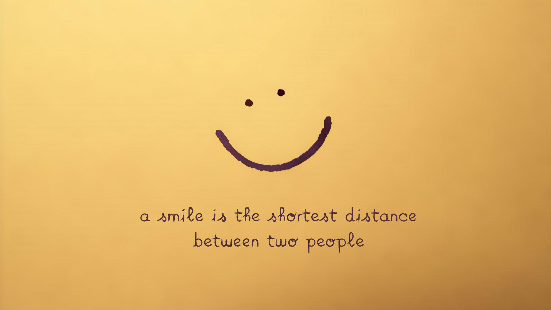 Smiley face with philosophical sentence wallpaper