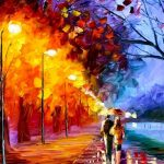 Park lovers oil painting desktop wallpaper