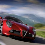 Red Romeo Alpha HD Car Wallpaper