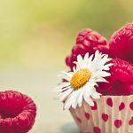 Raspberry, camomile, flower, desktop wallpaper