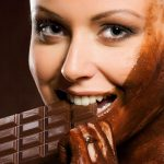 Girl in chocolate wallpaper