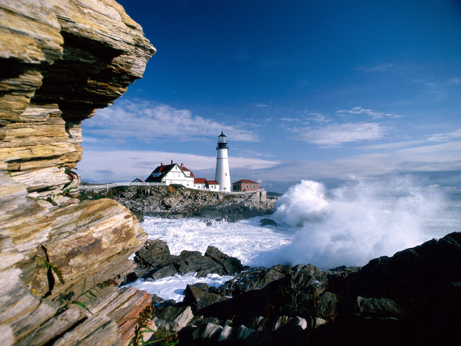 Portland Head Lighthouse, Maine desktop wallpaper