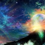 Colorful starry sky wallpaper