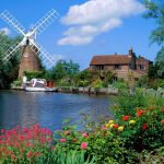 Hunsett Mill, Norfolk, England wallpaper