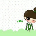Super cute Xiaoxi and A tree cartoon wallpaper pictures