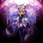 Perfect world girl games wallpaper in the dark
