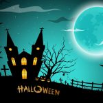 Night under Halloween cartoon desktop wallpaper