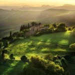 Tuscan green landscape desktop wallpaper HD download