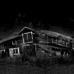 Dark ancient wooden house hd wallpaper