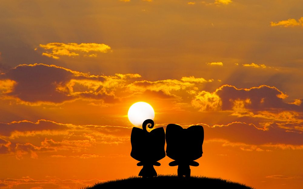 Watching the sunset with you wallpaper