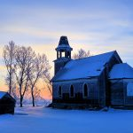 Winter snowy cottage beautiful landscape desktop wallpaper