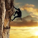 Extreme rock climbing wallpaper