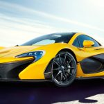 McLaren P1, concept, yellow super sports car desktop wallpaper