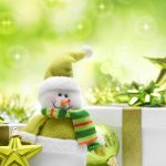Snowman, toy, green christmas widescreen wallpaper