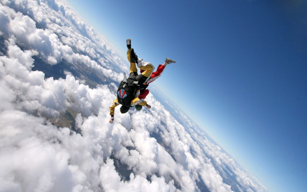 Extreme skydiving wallpaper