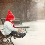 Snowy beautiful cute children wallpaper