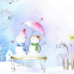 Snowman's love hd wallpaper