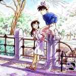 Detective Conan and Xiaolan desktop background pictures