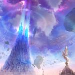 Aion, statue, lamp, spike, sky, rock, aion tower game computer wallpaper