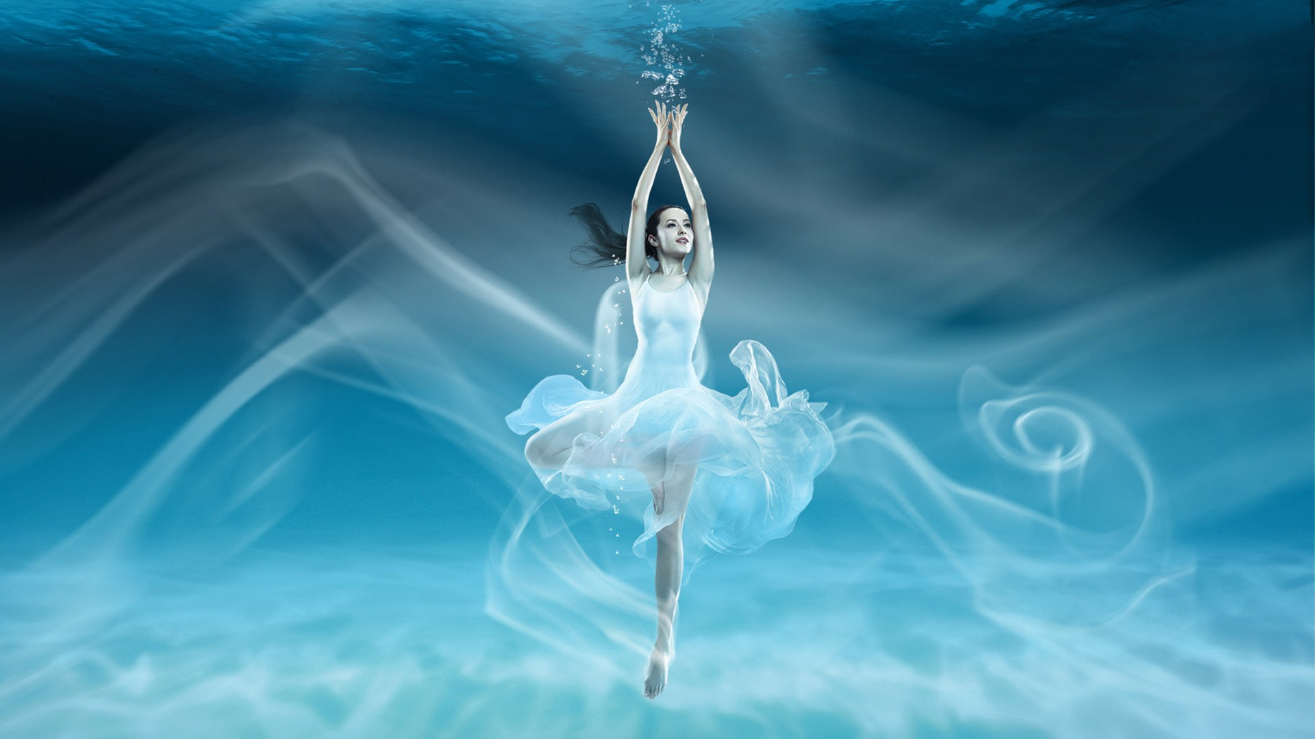 Water Ballet Beauty Art Desktop Wallpaper 8wallpapers