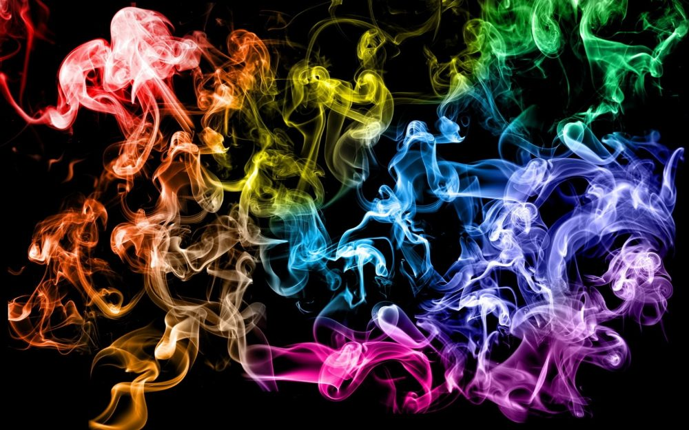 Color smoke computer desktop background