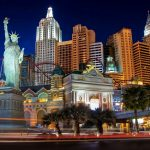 Casino, night, hotel, street, vegas