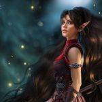 Dragon age dragon century, elf, beautiful girl mage desktop wallpaper