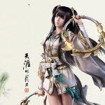 Tianya Mingyue Knife, Beauty Character, Ink, Chinese Style, End of the Moon Knife Wallpaper