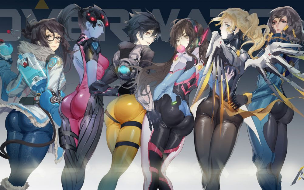 Overwatch,girl,wings,smile,game pretty girl computer wallpaper