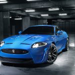 Blue jaguar xk HD wallpaper