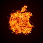 Burning apple wallpaper